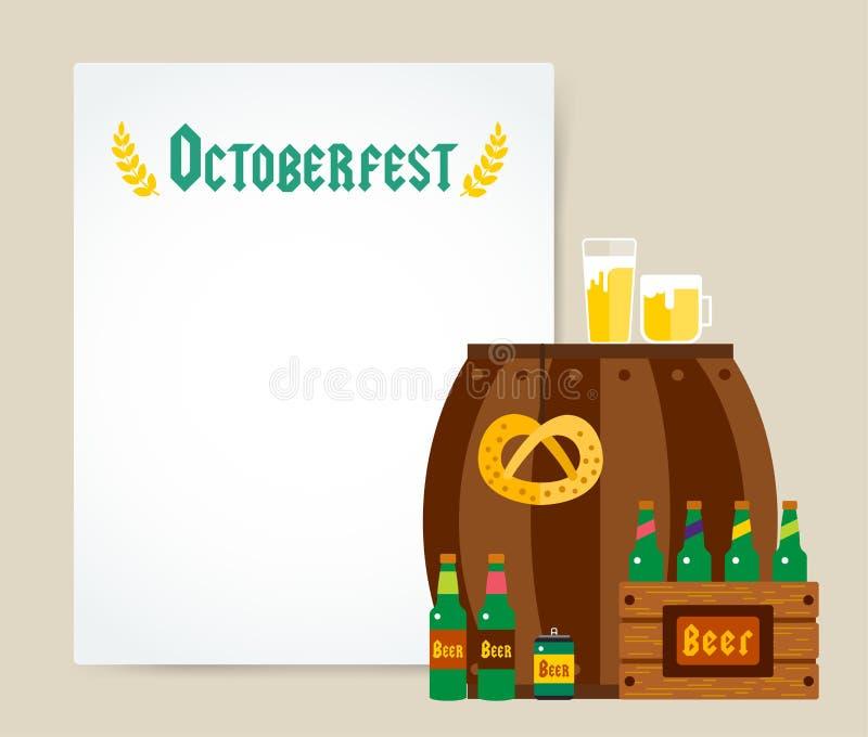 Cartaz do fundo do vetor da celebração de Oktoberfest ilustração do vetor