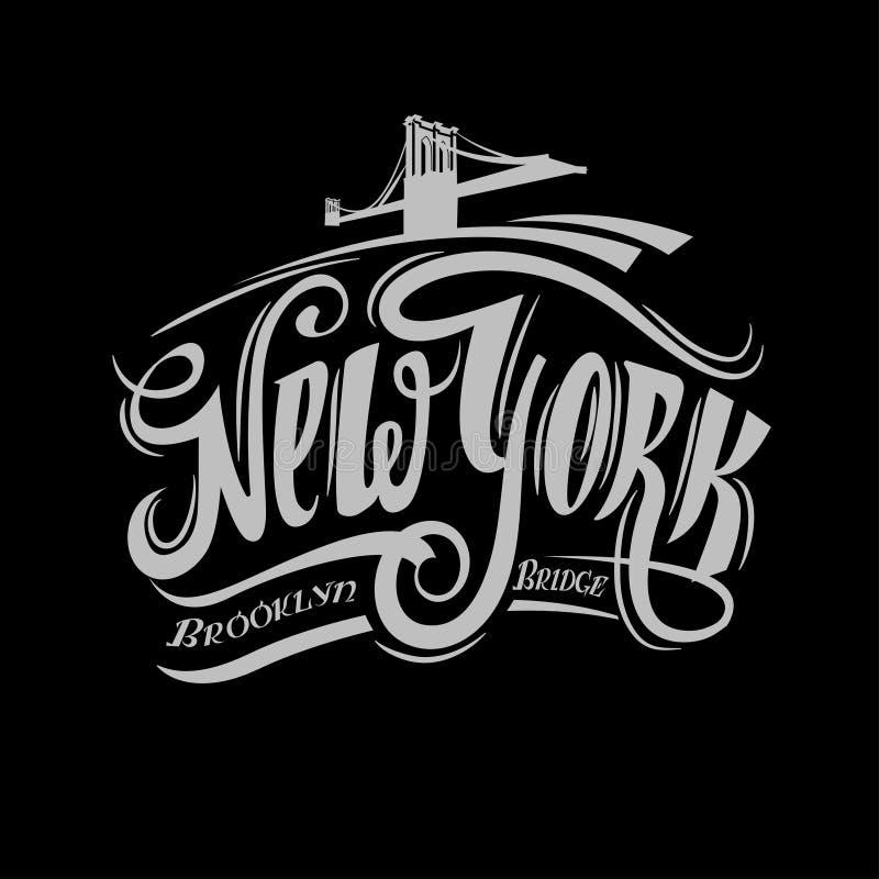 Cartaz do Grunge com nome de New York, vetor fotografia de stock royalty free
