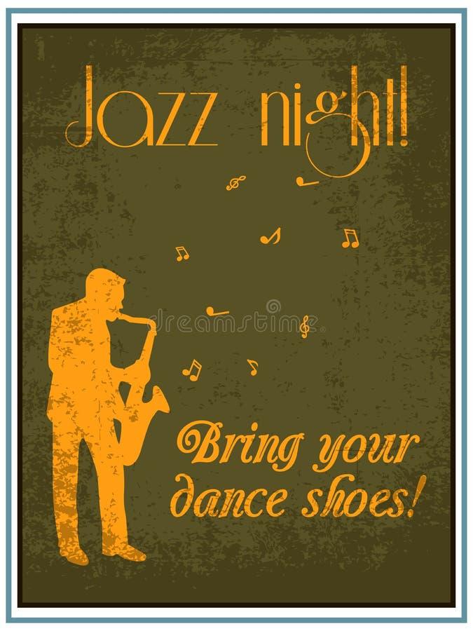 Cartaz do jazz ilustração stock