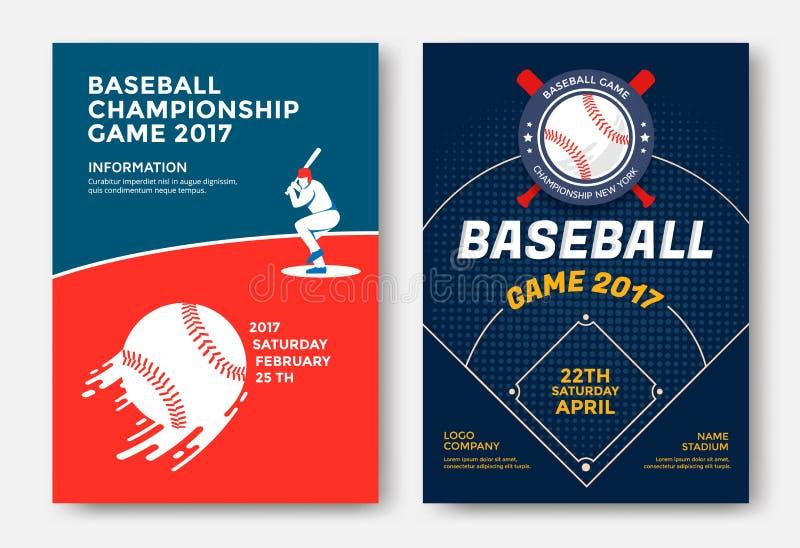 Cartaz do jogo de basebol ilustração stock