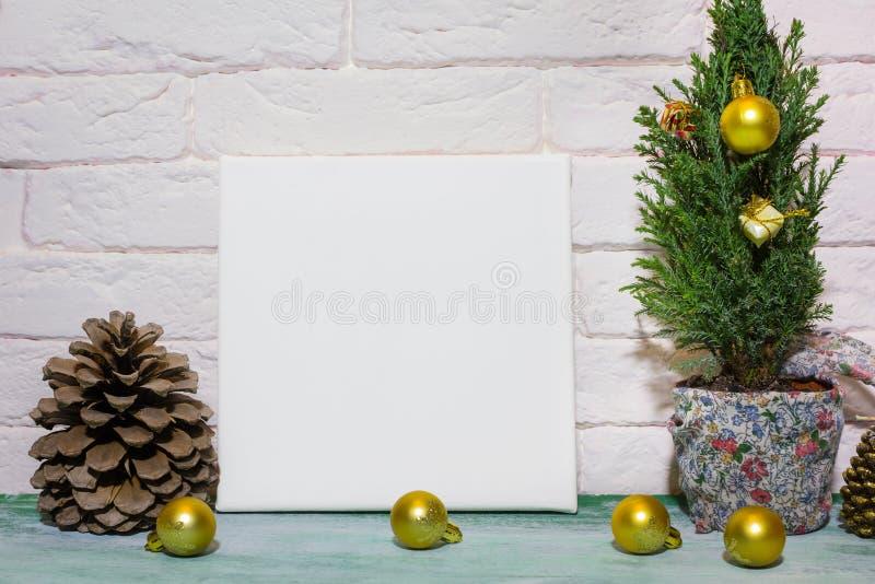 Cartaz do modelo no interior do Natal fotos de stock