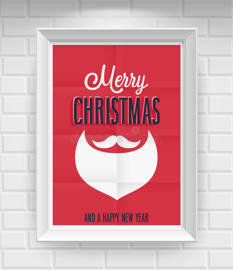 Cartaz do Natal do vintage. ilustração do vetor