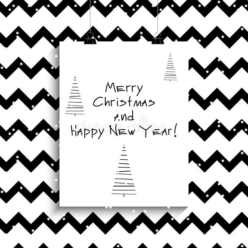 Cartaz do Natal Ilustração do vetor creativo ilustração royalty free