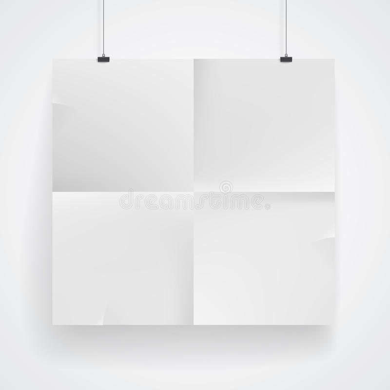 Cartaz do papel vazio ilustração do vetor