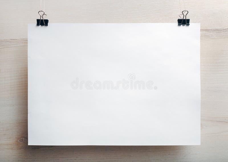 Cartaz do papel vazio fotografia de stock royalty free