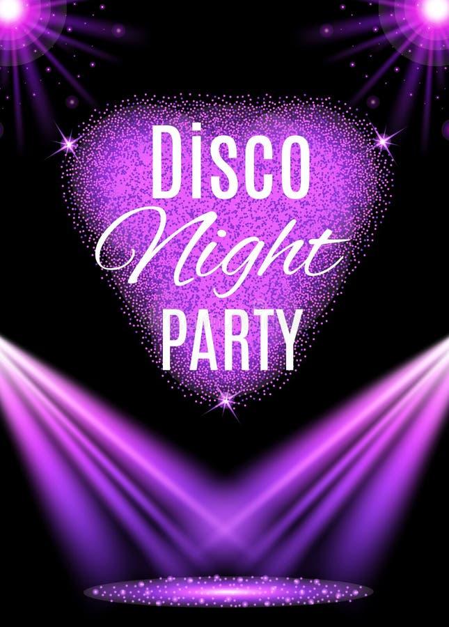 Cartaz do partido de disco nightclub ilustração royalty free