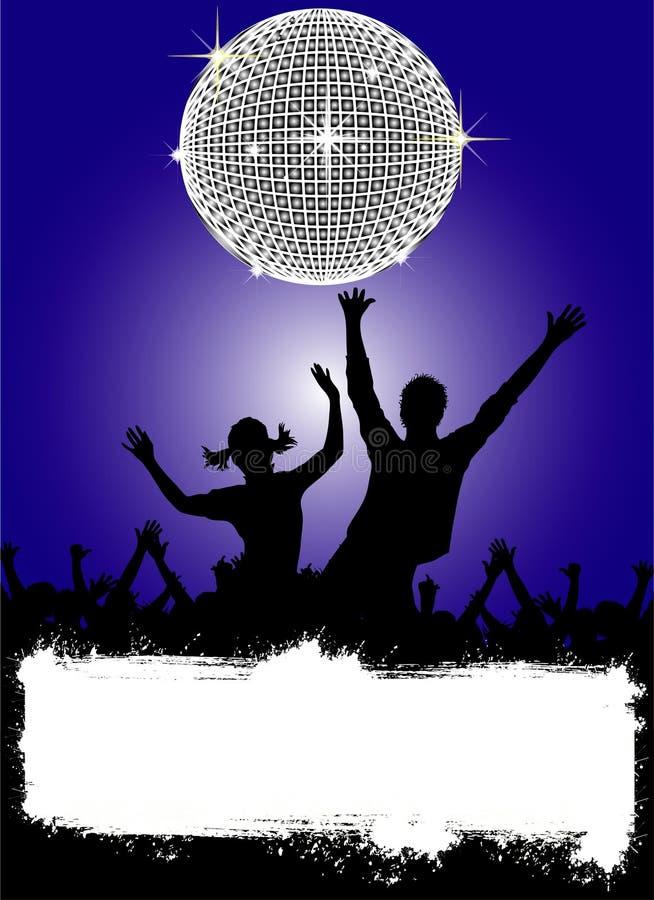 Cartaz do partido do disco ilustração royalty free