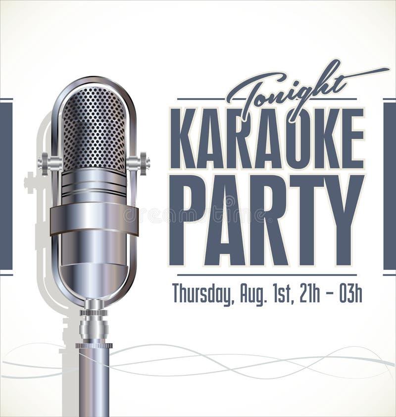 Cartaz do partido do karaoke ilustração do vetor