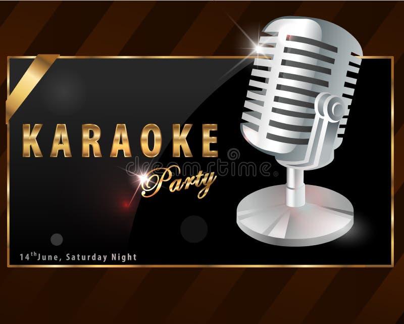 Cartaz do partido do karaoke - vetor eps10 ilustração royalty free