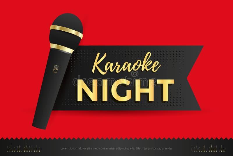 Cartaz do partido do karaoke ilustração stock