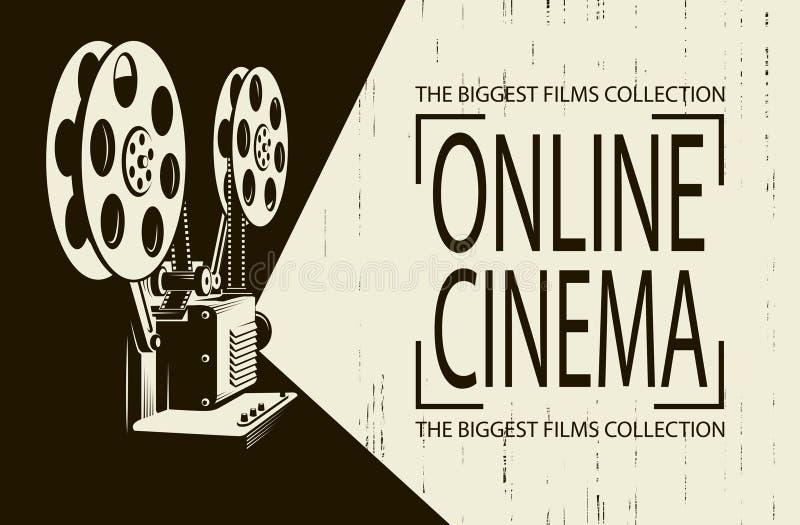 Cartaz do projetor de filme ilustração royalty free