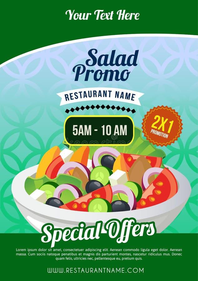 Cartaz do promo da salada ilustração royalty free