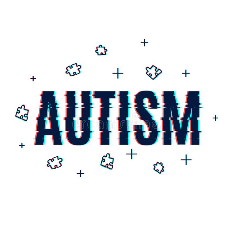 Cartaz do pulso aleatório do autismo ilustração stock