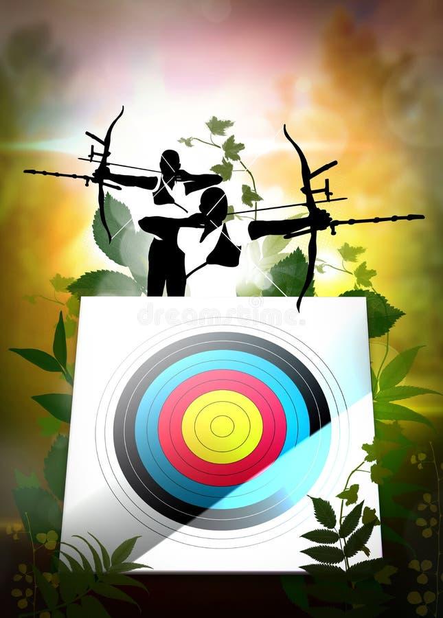 Cartaz do tiro ao arco ilustração royalty free