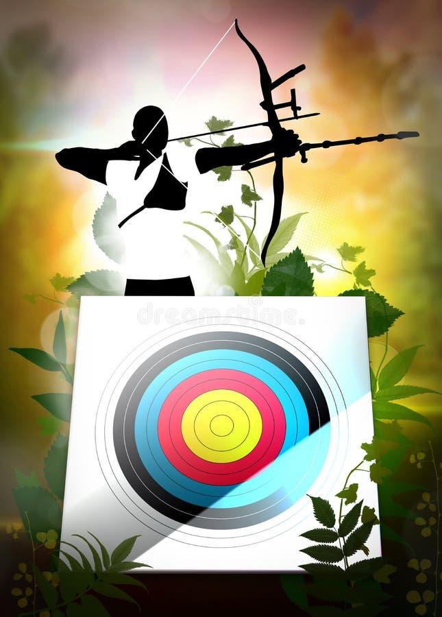 Cartaz do tiro ao arco ilustração do vetor