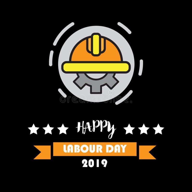 Cartaz do vetor do Dia do Trabalhador do mundo ilustração royalty free