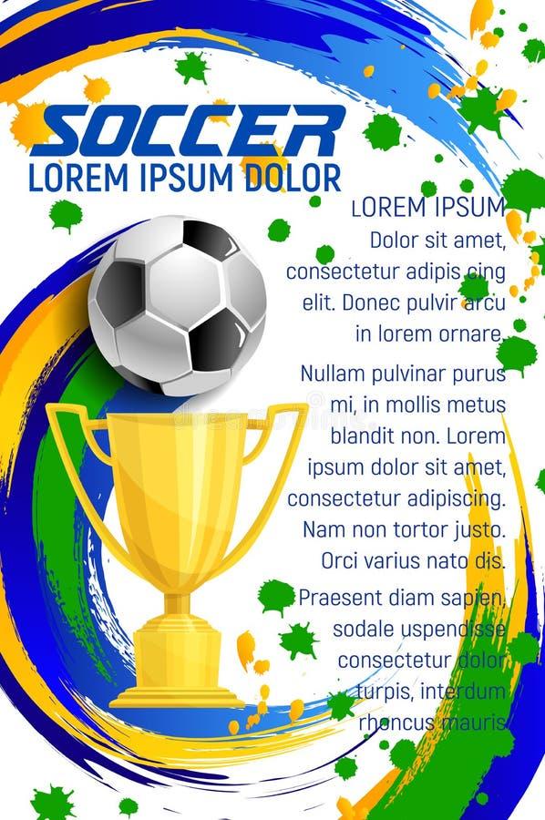 Cartaz do vetor para o jogo de futebol do esporte do futebol ilustração stock