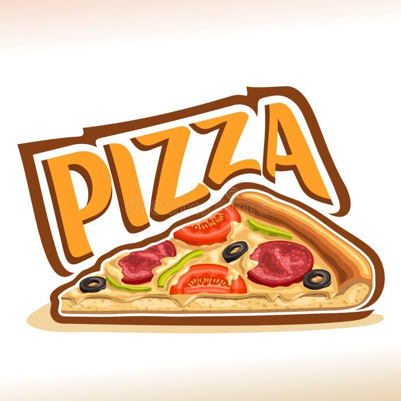 Cartaz do vetor para a pizza ilustração do vetor