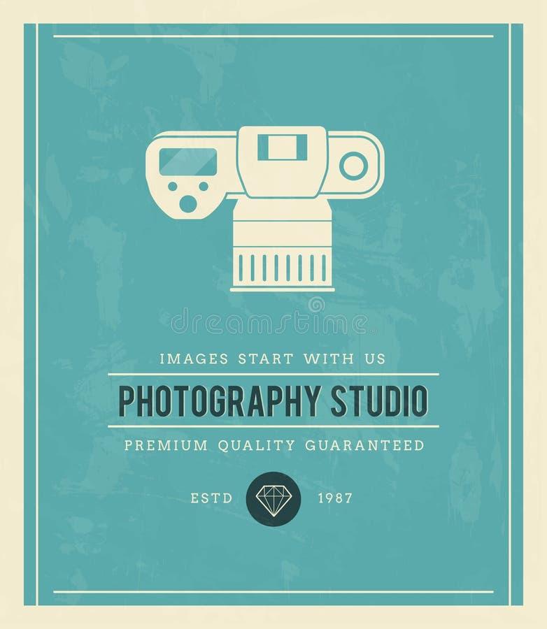Cartaz do vintage para o estúdio da fotografia ilustração royalty free
