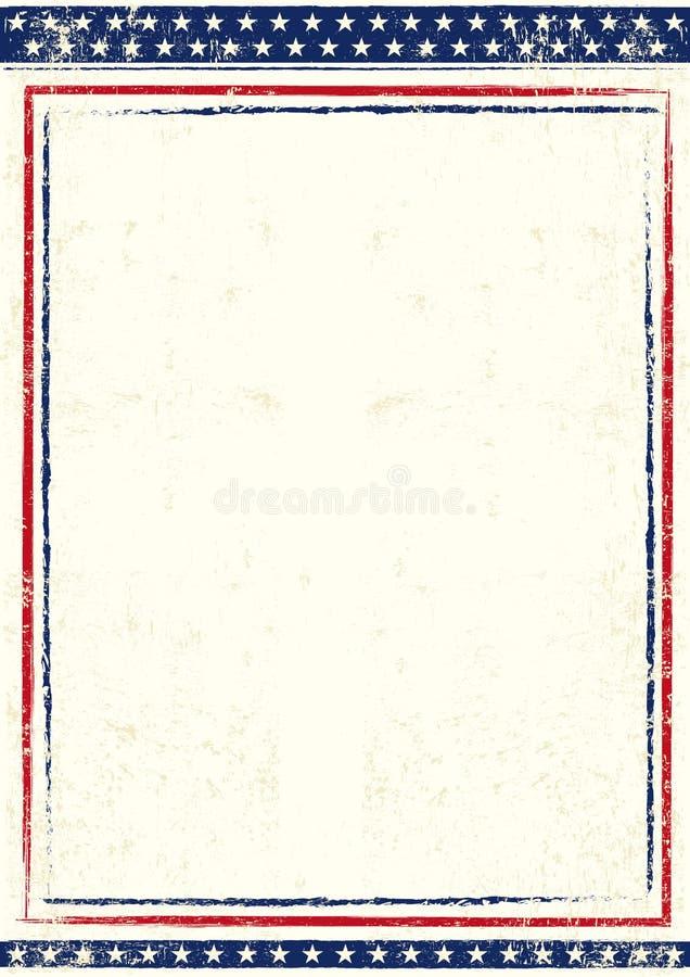 Cartaz dos E.U. ilustração do vetor