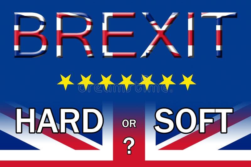 Cartaz duro ou macio de Brexit da saída da opção ilustração royalty free