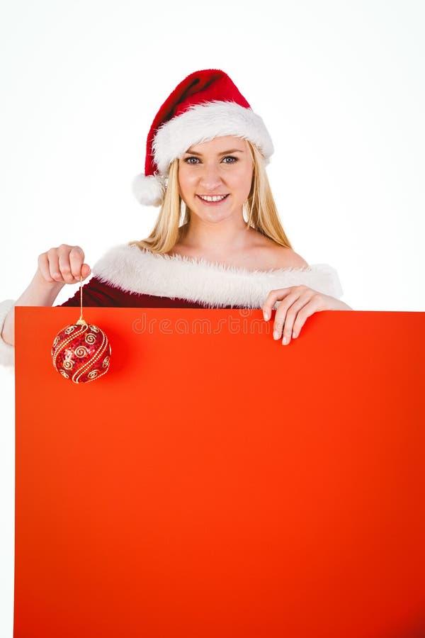 Cartaz e quinquilharia guardando louros bonitos festivos imagem de stock royalty free