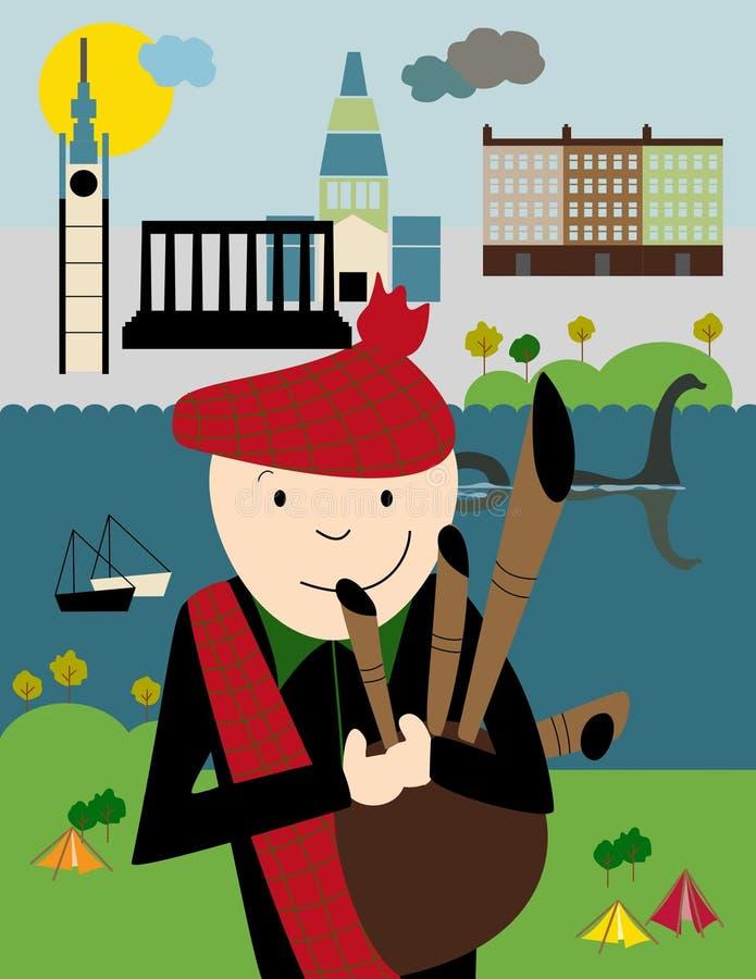 Cartaz: Edimburgo, Escócia ilustração stock