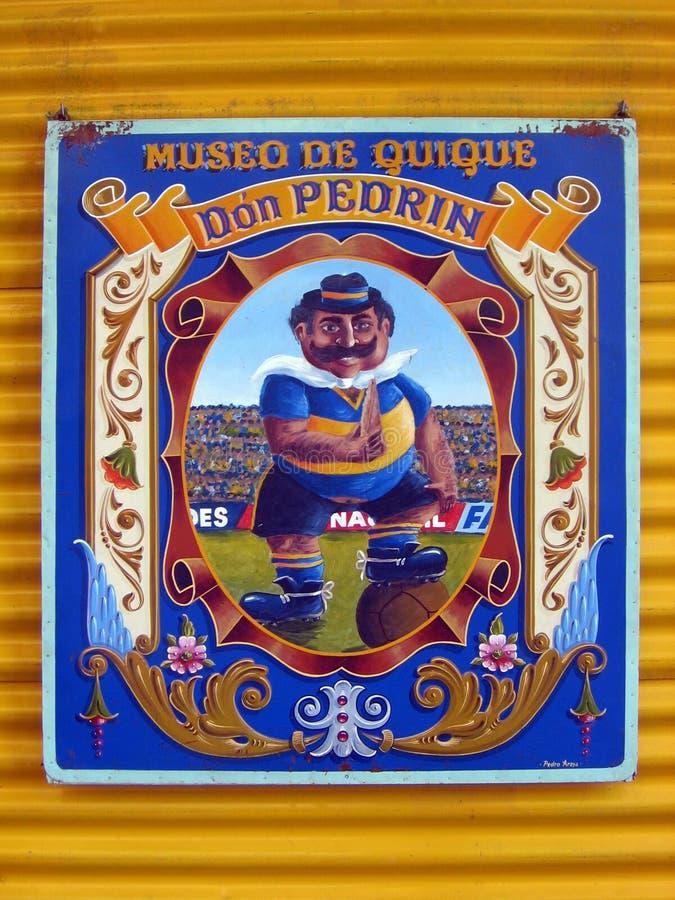 Cartaz enfaixado no La Boca Argentina imagens de stock