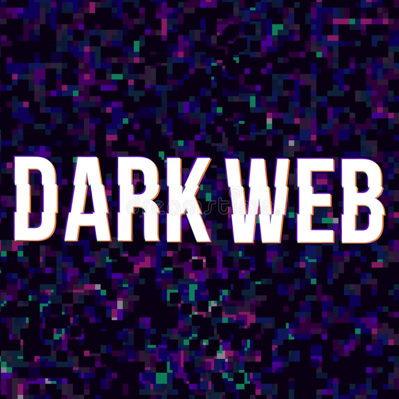Cartaz escuro da Web ilustração royalty free