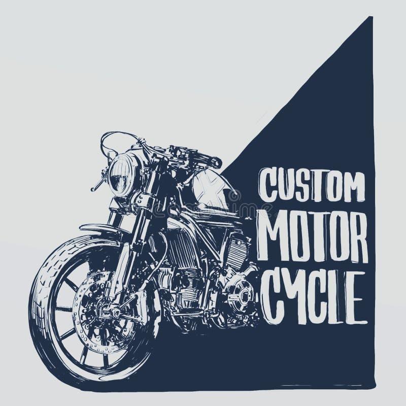 Cartaz feito sob encomenda da motocicleta imagens de stock royalty free