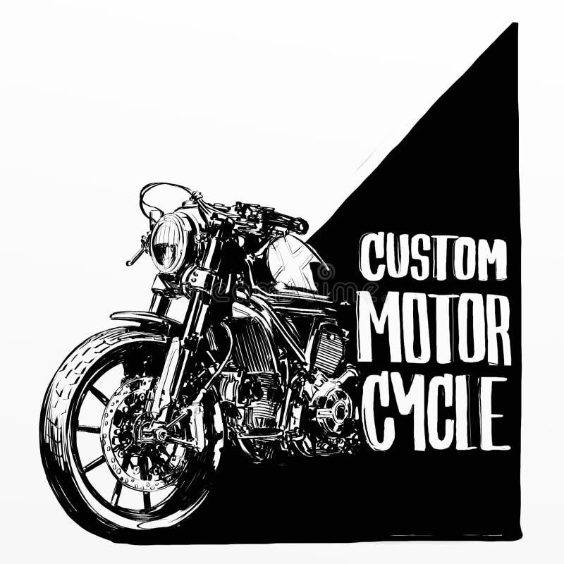 Cartaz feito sob encomenda da motocicleta foto de stock