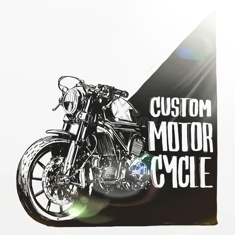 Cartaz feito sob encomenda da motocicleta fotografia de stock royalty free