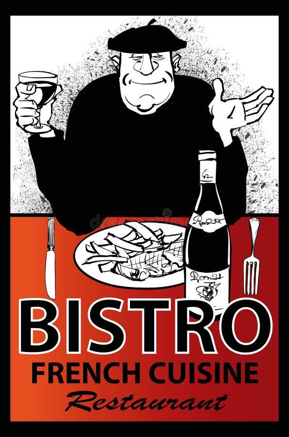 Cartaz francês do restaurante do negócio ilustração royalty free