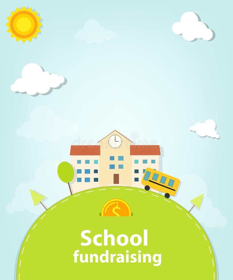 Cartaz fundraising da escola ilustração stock