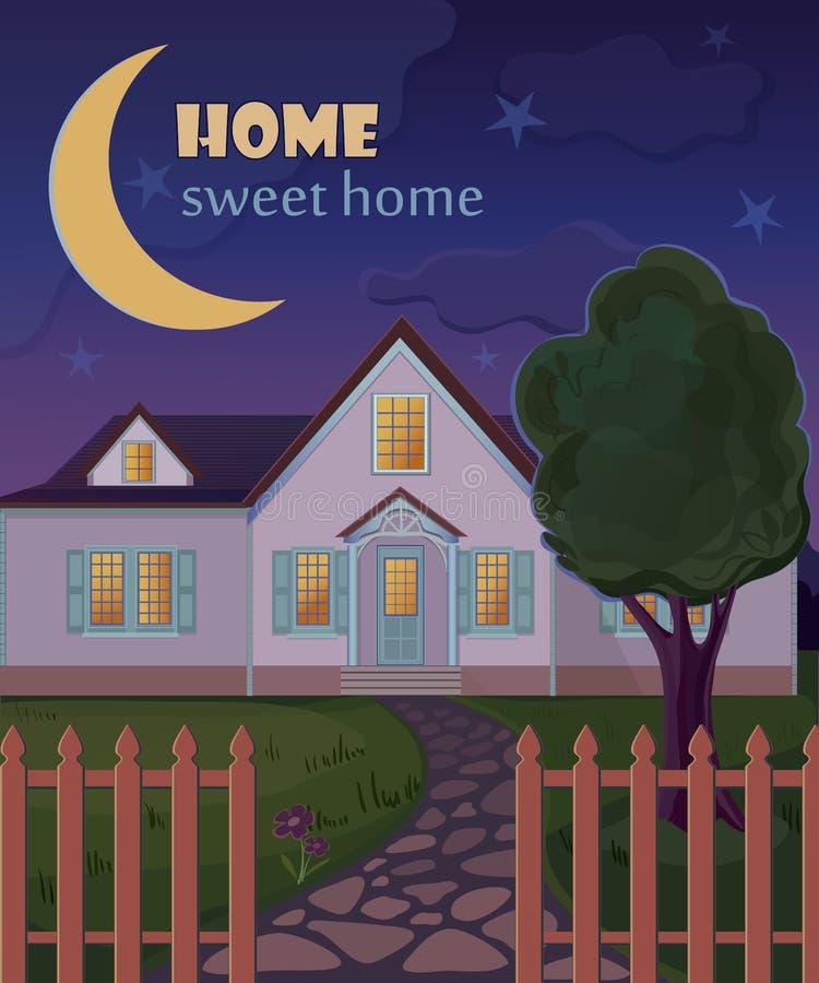 Cartaz home doce home ilustração royalty free