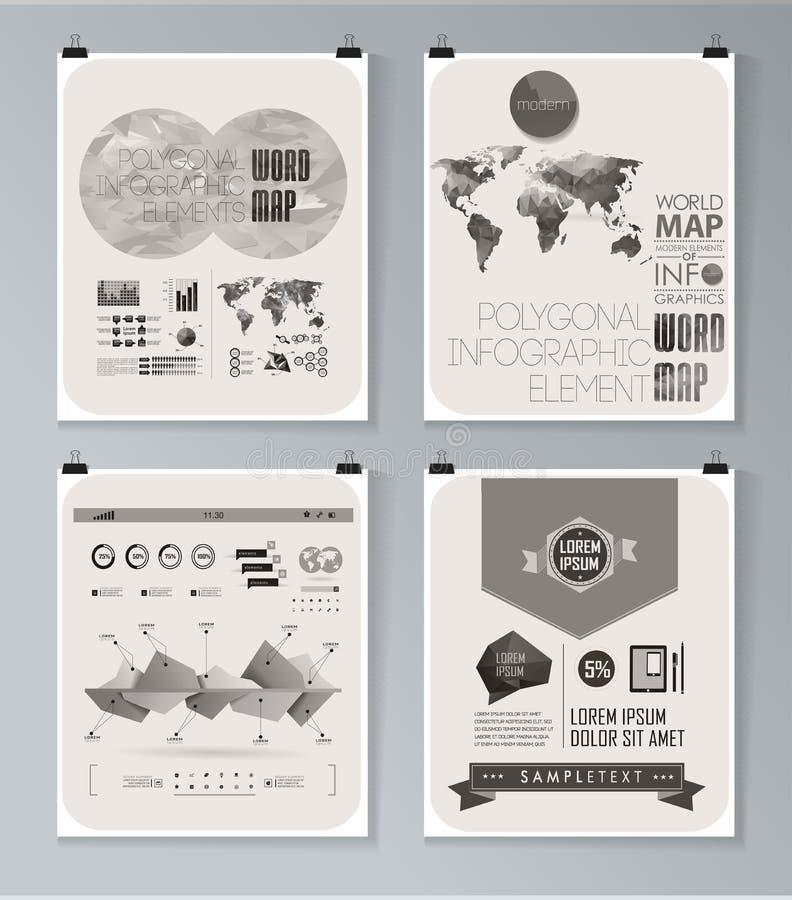Cartaz infographic moderno Fundo ilustração stock