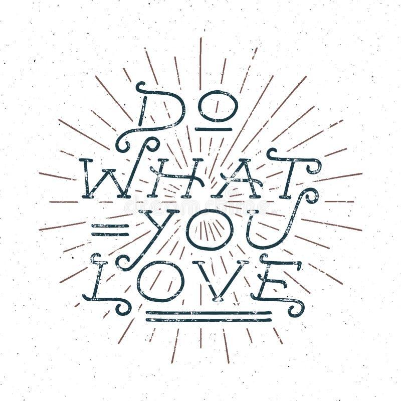 Cartaz inspirado das citações da tipografia do giz ilustração do vetor