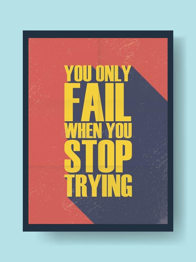 Cartaz inspirador do negócio sobre o sucesso e ilustração royalty free