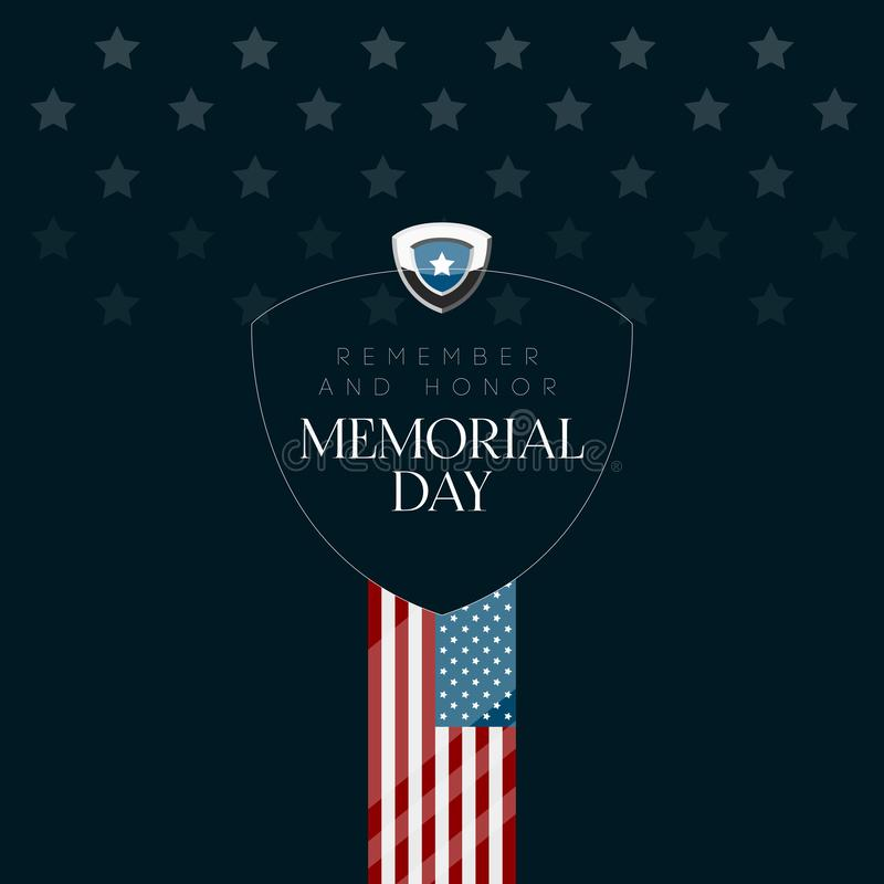 Cartaz isolado do Memorial Day ilustração do vetor