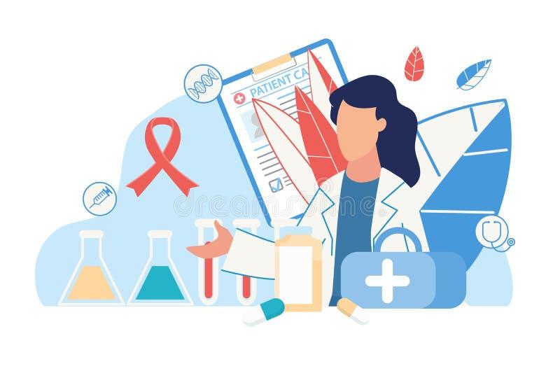 Cartaz Médico com Ícones Médicos e de Saúde ilustração royalty free