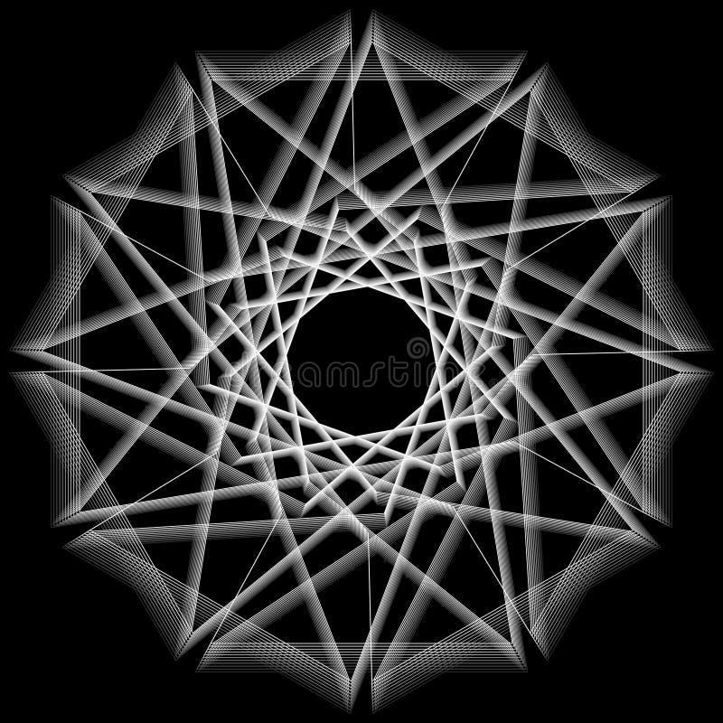 Cartaz minimalistic da arte finala da geometria com forma e figura simples ilustração royalty free