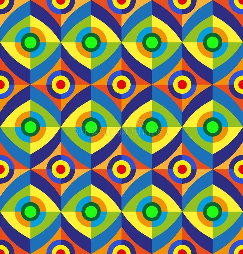 Cartaz minimalistic da arte finala da geometria geométrica sem emenda do fundo do vetor com forma e figura simples ilustração stock