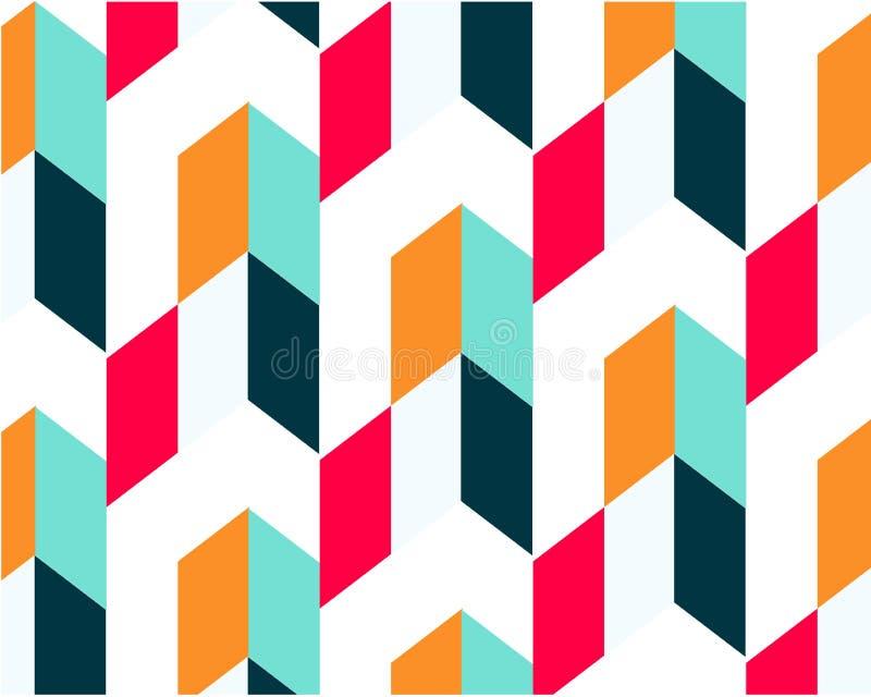 Cartaz minimalistic da geometria com uma forma e uma figura simples ilustração royalty free