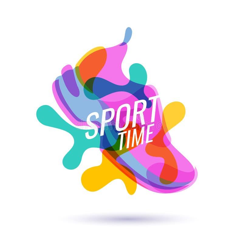 Cartaz moderno para esportes ilustração do vetor