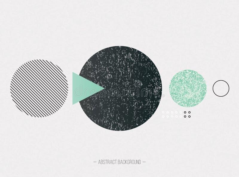 Cartaz na moda com textura geométrica das formas ilustração do vetor