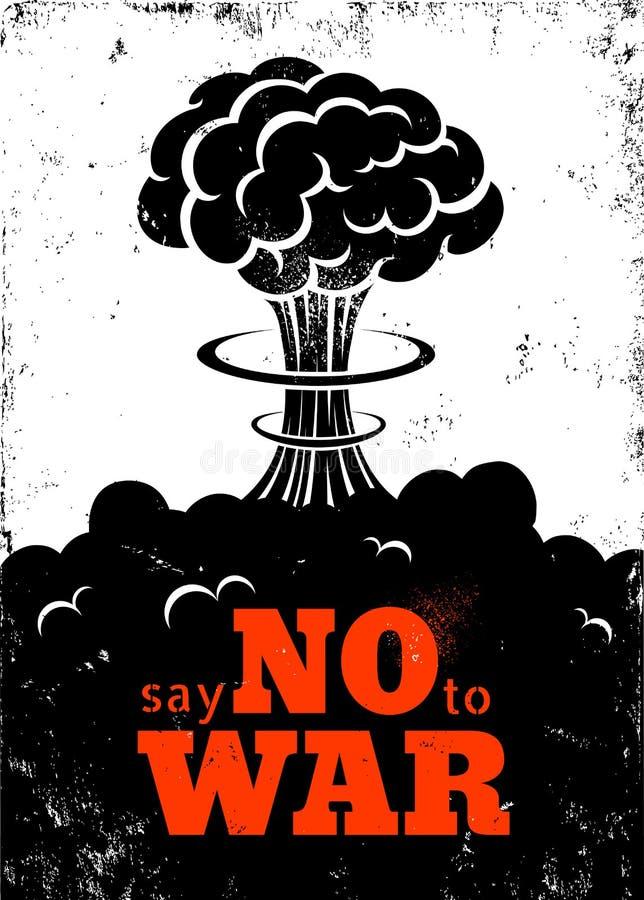 Cartaz nenhuma guerra ilustração stock