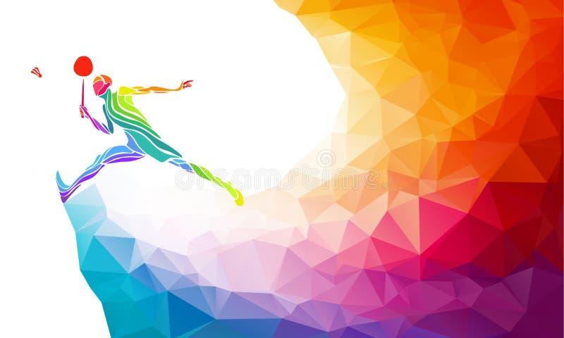 Cartaz ou inseto do convite do esporte do badminton imagem de stock royalty free