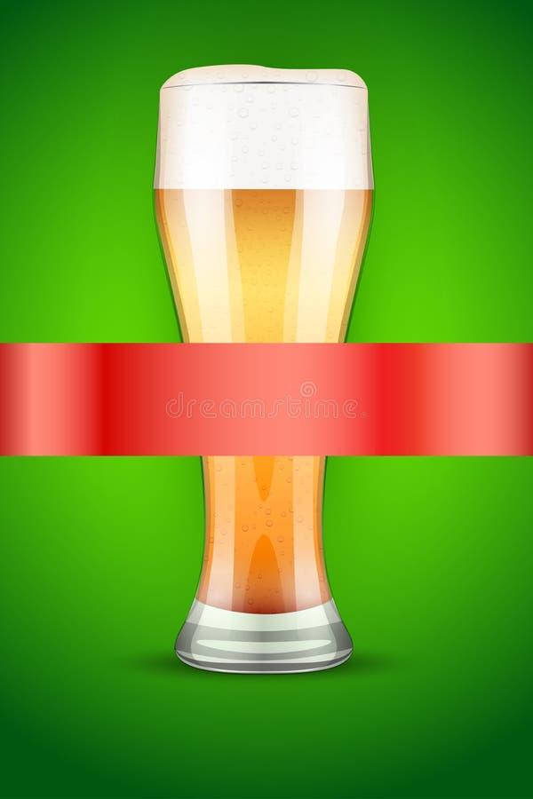 Cartaz ou tampa do menu da cerveja ilustração do vetor