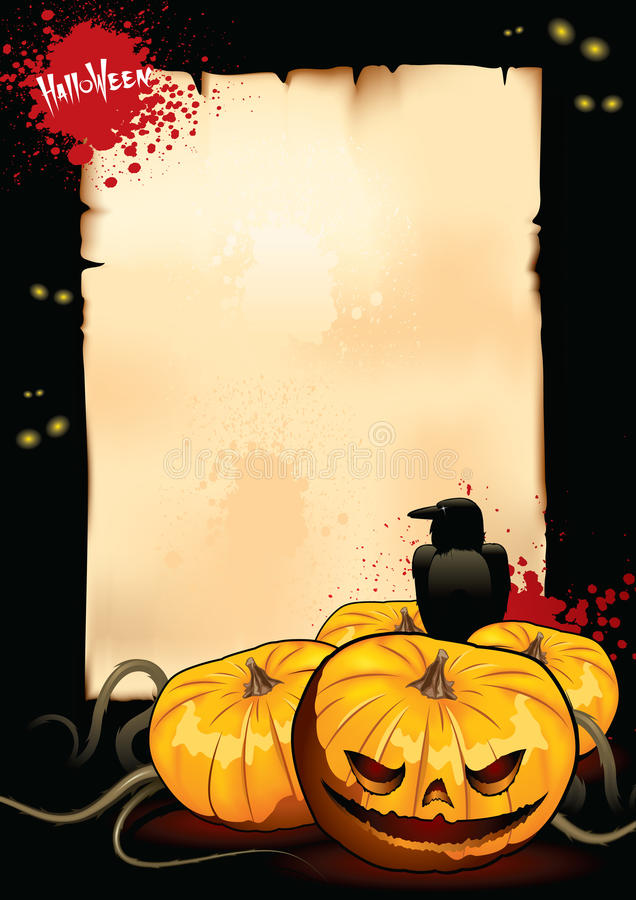 Cartaz para Halloween ilustração stock