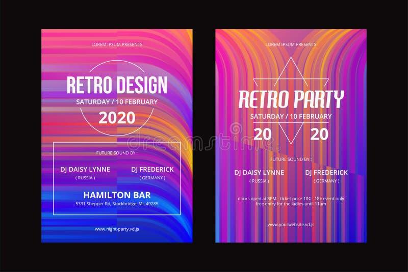 CARTAZ RETRO TEMPLATE-02 ilustração do vetor